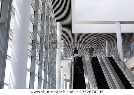 вид сзади молодые предпринимателей эскалатор современных Сток-фото © wavebreak_media