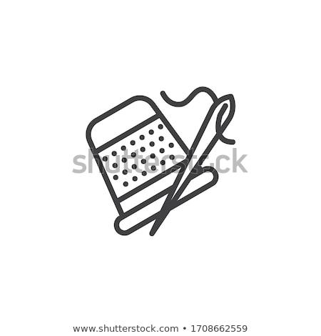 Vinger vingerhoed icon vector schets illustratie Stockfoto © pikepicture