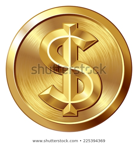 Arany érme dollárjel érme ikon izolált fehér Stock fotó © robuart