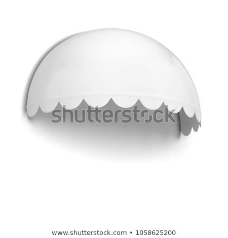 Bolvormig store 3d illustration geïsoleerd witte zon Stockfoto © montego