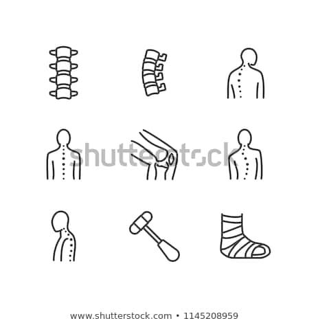 Anatomii kręgosłup ikona biały medycznych zdrowia Zdjęcia stock © smoki