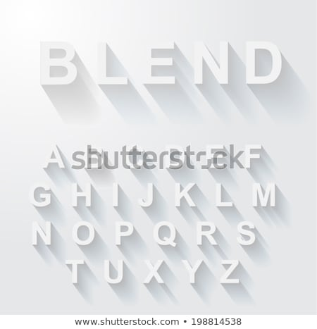 Vector of Blue Bold Modern Font or Alphabet with Long Shadows. Stock photo © tashatuvango
