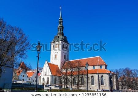 Kerk Tallinn Estland middeleeuwse toren gebouw Stockfoto © borisb17