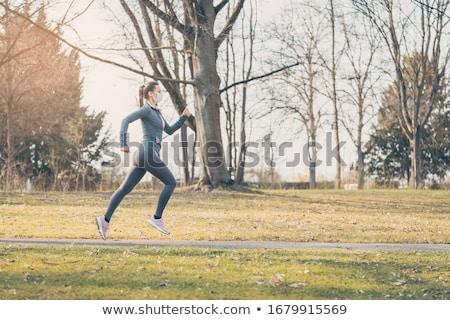 Geschikt vrouw lopen gezondheid crisis gezicht Stockfoto © Kzenon