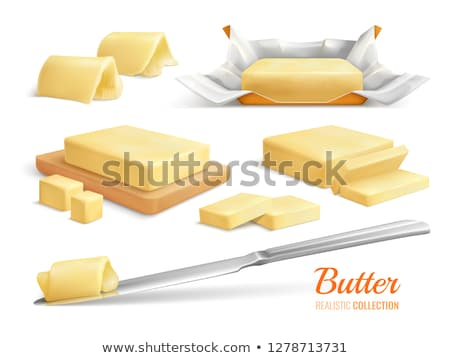 Butter Or Margarine Onboarding Elements Icons Set Vector Stock photo © pikepicture