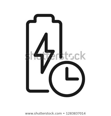 Longo bateria vida ícone vetor Foto stock © pikepicture