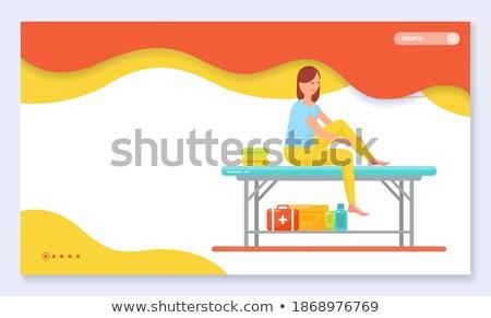 Maakt een reservekopie massage therapie spa salon website Stockfoto © robuart
