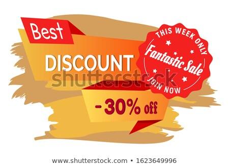 Zniżka moda sprzedaży tydzień 30 procent Zdjęcia stock © robuart