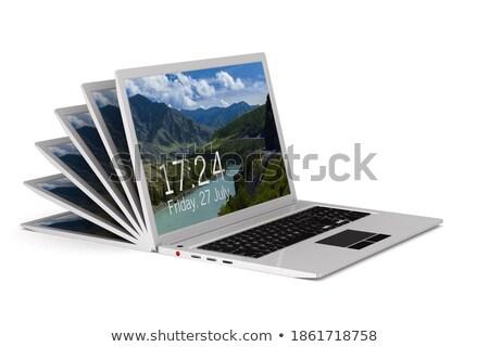 距離 仕事 白 孤立した 3次元の図 ビジネス ストックフォト © ISerg