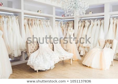 подвенечное платье магазин иллюстрация женщину девушки свадьба Сток-фото © adrenalina