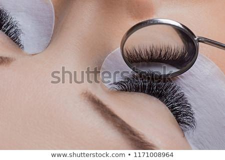Narzędzia rzęs procedura strony sztuczny czarny Zdjęcia stock © olira
