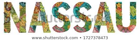 Nassau city is the capital of The Bahamas. Vector decorative zentangle object for decoration Stock photo © Natalia_1947
