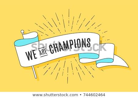 Sport success, triumph cartoon poster Stock photo © barsrsind