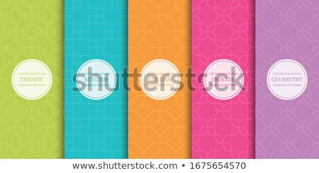 Colorful bright seamless vector pattern. Funky vibrant repeatable background. Memphis design - fashi Stock photo © ExpressVectors
