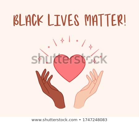 Fekete ököl női kéz tiltakozás vektor Stock fotó © beaubelle