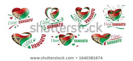 Vanuatu bandeira branco mundo fundo assinar Foto stock © butenkow