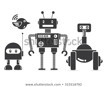 Vector cartoon mechanical robotic bird. Toy androids with artificial intelligence, pet for games. Cr Stock photo © designer_things