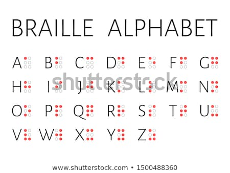 Braille signs of latin alphabet letters, numbers, punctuation and sounds on white Stock photo © evgeny89
