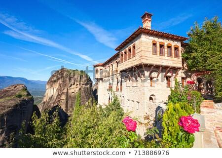 Kolostor nagyszerű Görögország kilátás kövek égbolt Stock fotó © borisb17