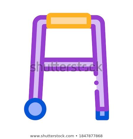 Walker Orthopedic Equipment With Rollers Vector Stock photo © pikepicture