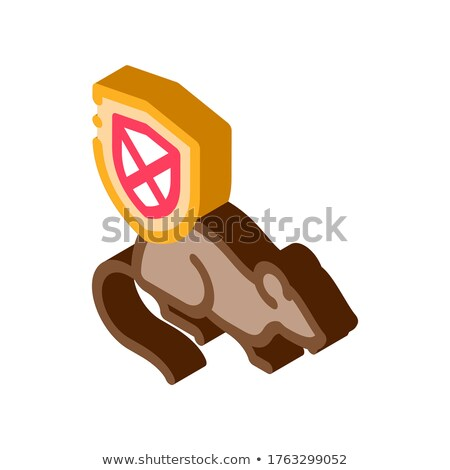 Rat Ban isometric icon vector illustration Stock photo © pikepicture
