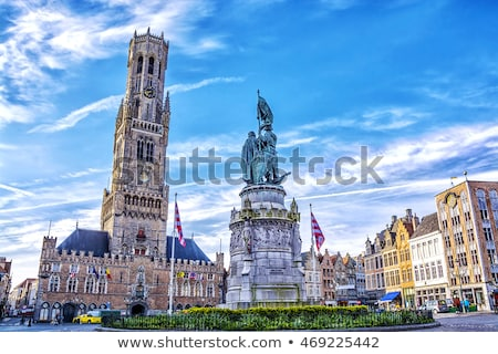 Brugge Grote Markt square with Belfry. Bruges, Belgium Stock photo © dmitry_rukhlenko