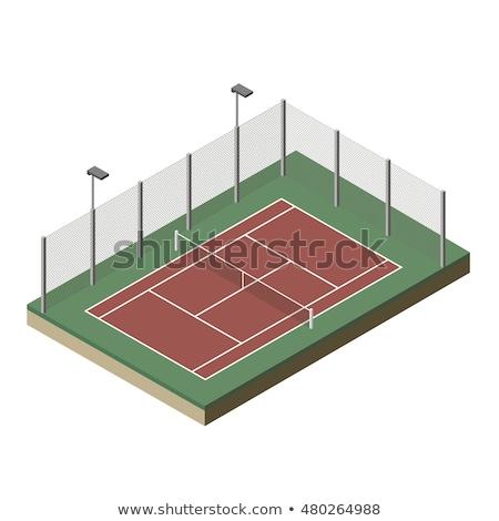 テニス ゲーム 裁判所 アイソメトリック アイコン ベクトル ストックフォト © pikepicture