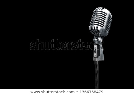 Microphone on a black background stock photo © sielemann