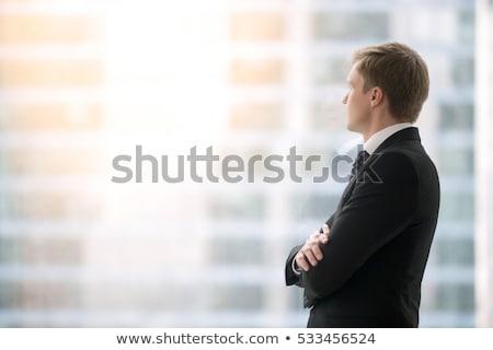 olhando · fora · janela · grande · cidade - foto stock © iofoto