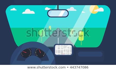 GPS coche ventana cielo azul ordenador carretera Foto stock © johnnychaos