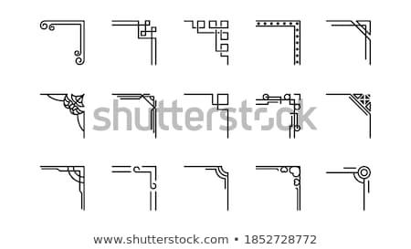 Diseno esquinas vector elementos proyectos Foto stock © Lizard