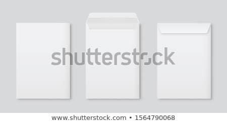 Zielone Internetu mail komunikacji kopercie biały Zdjęcia stock © vtorous