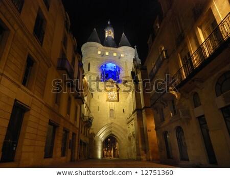 Bordeaux big bell's clock isolated Stock photo © smithore