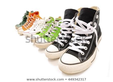 gyermek · cipők · csizma · izolált · nagyobb · csoport · fehér - stock fotó © zakaz
