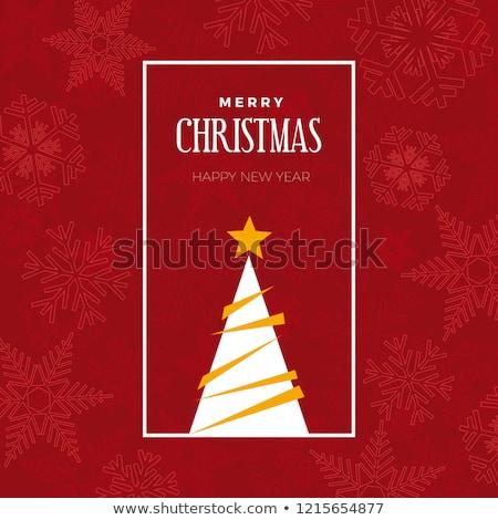 étterem · karácsony · kártya · vektor · alma · zöld - stock fotó © BibiDesign
