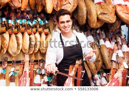 スペイン語 ハム 市場 バルセロナ ストックフォト © fazon1