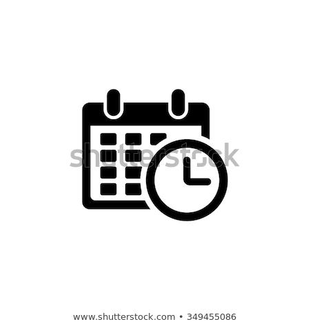 Foto stock: Calendário · relógio · tiro