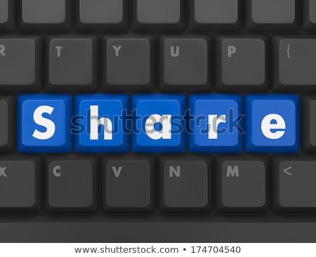 Klavye düğme mektup yardım iletişim hizmet Stok fotoğraf © MilosBekic