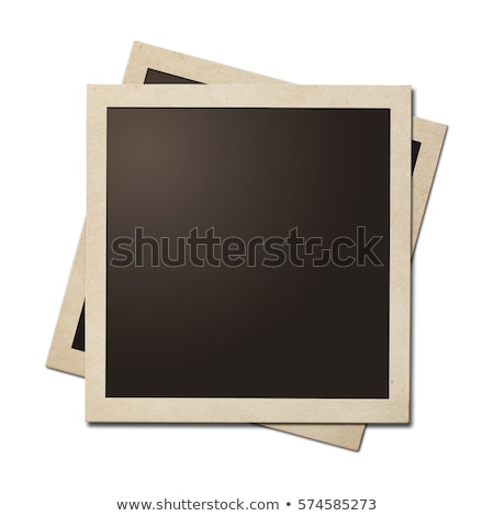 aged polaroid with clipping path stock photo © upimages