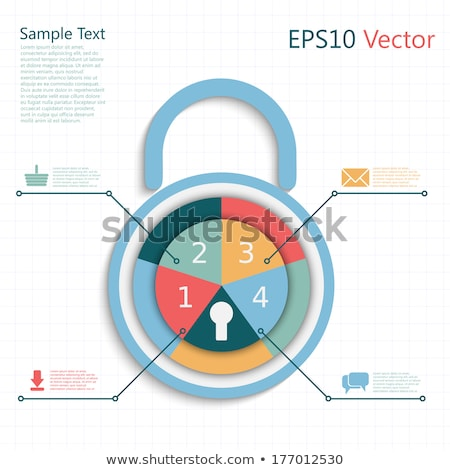 Identity Protection - Combination Lock for Security Stock photo © iqoncept
