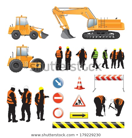 A man construction worker with a pickaxe. Stock photo © photography33