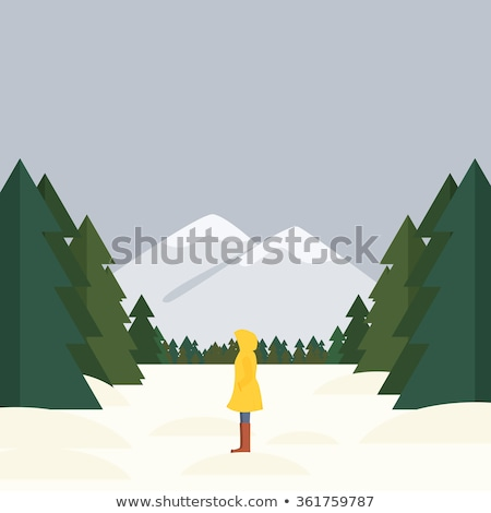 girl standing in forest stock photo © aliftin