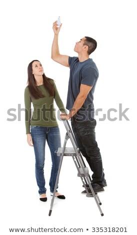 Handyman fixing lighting Stock photo © photography33
