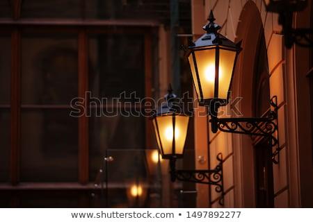 Vieux lampe photos lumière sombre ombre Photo stock © jirisolecito