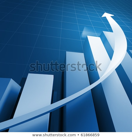 financial business stat and blue arrow  Stock photo © 4designersart