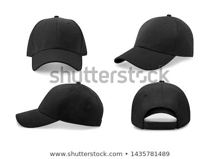 Siyah şapka iki el kadın Stok fotoğraf © pongam