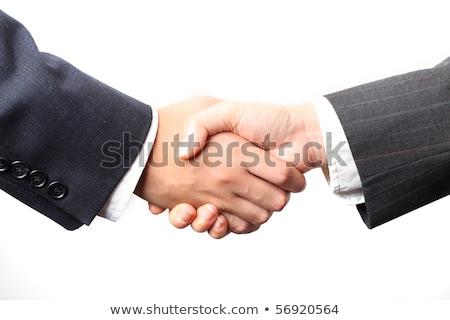 Estrechar la mano empresario mujer de negocios negocios mano hombre Foto stock © shutswis