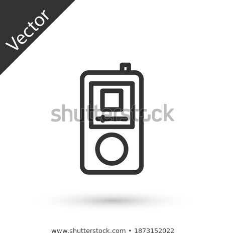 modern lcd with stereo headphones isolated on white Stock photo © ozaiachin