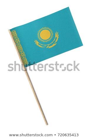 Miniatura bandeira Cazaquistão isolado reunião Foto stock © bosphorus