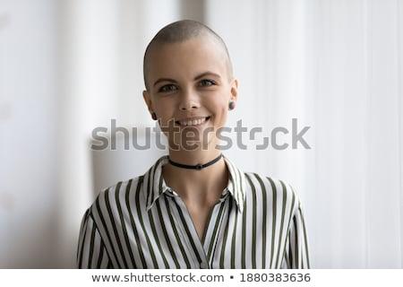 勇敢な · がん · 遺族 · ポーズ · 肖像 - ストックフォト © lisafx